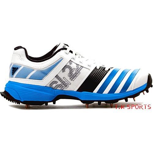 Adidas-SL 22-white/blue-Adult Cricket Shoe