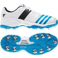 Adidas-Spike-White/blue-Adult Cricket Shoe
